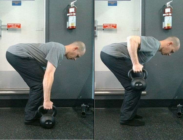 how to do the 2 Arm Kettlebell Row https://www.getstrong.fit/Two-Arm-Kettlebell-Row-Exercise-Guide/Exercises