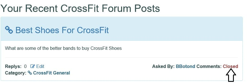 Screen shot of you question closed https://www.getstrong.fit