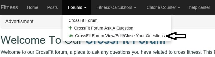 Screen shot of menu item to select for editing/closing a question https://www.getstrong.fit