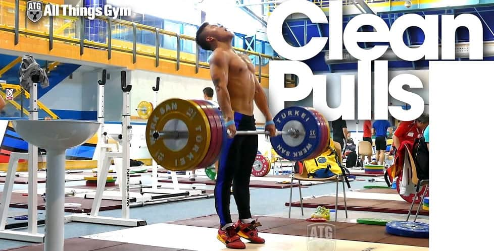 A man performing the clean pull CrossFit Exercise https://www.GetStrong.fit/Fitness