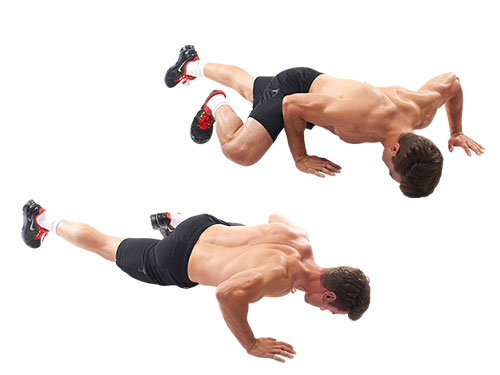 how to perform the dragon walk exercise man showing an example https://www.GetStrong.fit