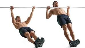 man showing how to perform incline Chin-Ups
