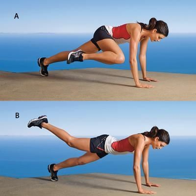 woman showing how to do the Plank Knee to Elbow exercise https://www.getstrong.fit/Plank-Knee-to-Elbow-How-to-Exercise-Guide/Exercises