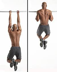 man showing how to perform Shoulder Width Chin-Ups