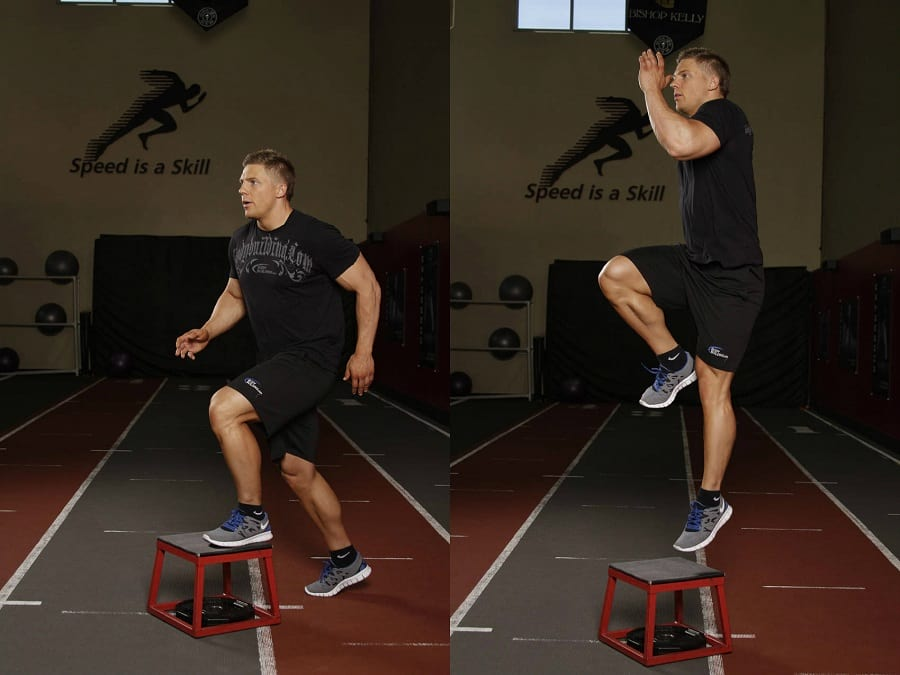 How to perform the single leg push-off