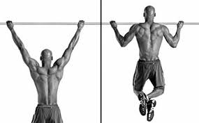 man showing how to perform Wide Pull-Ups