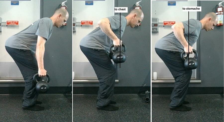 how to do the Two Arm Kettlebell Row https://www.getstrong.fit/Two-Arm-Kettlebell-Row-Exercise-Guide/Exercises