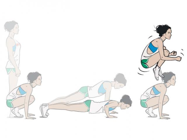 Tuck Jump Burpee How To